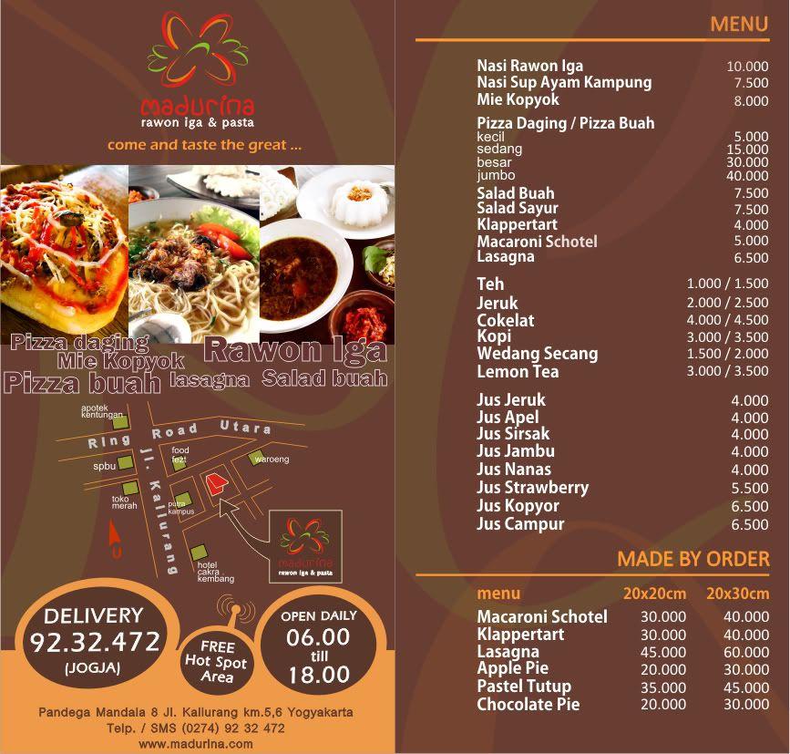Brochure menu - hai trong một tiện lợi