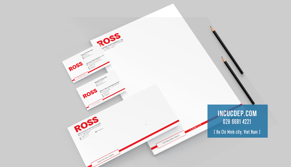 Combo nhận diện thương hiệu của Thương Hiệu ROSS