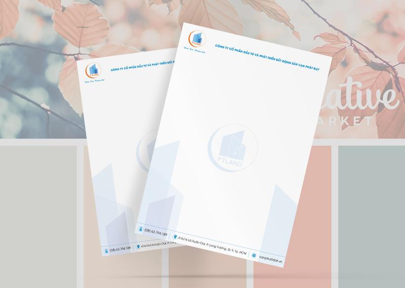 Thiết kế in ấn lettehead cho công ty bất động sản