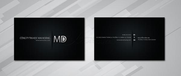 Mẫu thiết kế card visit màu đen ấn tượng