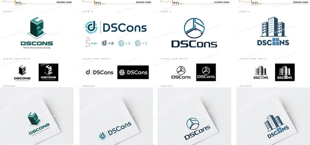 Bộ 4 mẫu thiết kế logo lần đầu được gởi cho khách hàng