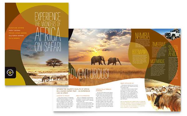 Làm brochure du lịch châu phi