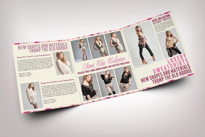 Mẫu brochure thời trang cao cấp