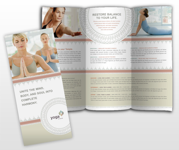 Mẫu thiết kế brochure spa - yoga