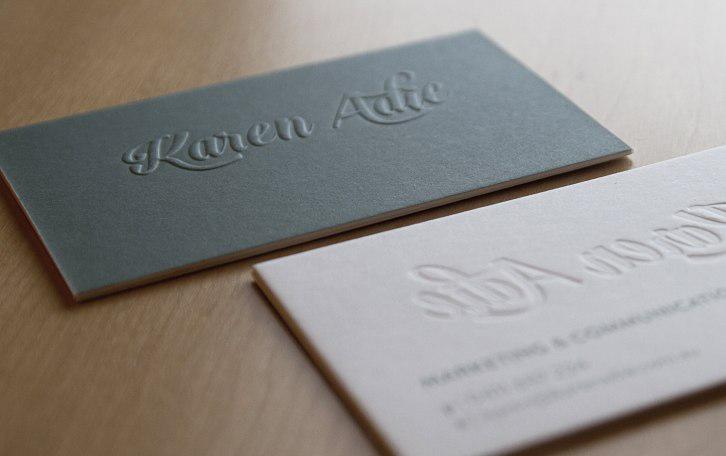 Thiết kế card visit dập nổi - thiết kế logo