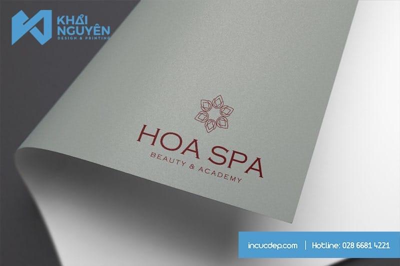 Mẫu thiết kế logo đẹp cho Spa - Hoa Spa
