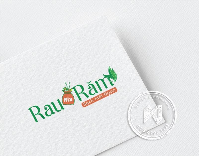 Thiết kế logo Mix Rau Răm sạch