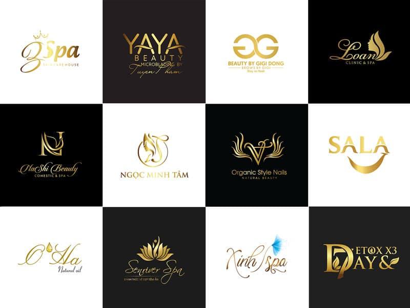 Bộ mẫu thiết kế logo Nail Spa - Beauty Spa đẹp từ cái nhìn đầu tiên