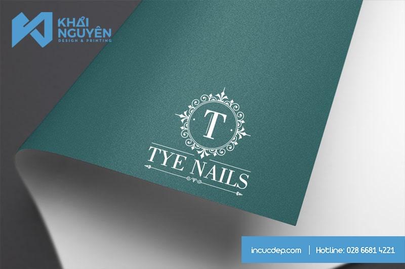 Tye Nails Spa Beauty - Mẫu thiết kế logo đẹp cho SPA & Nails