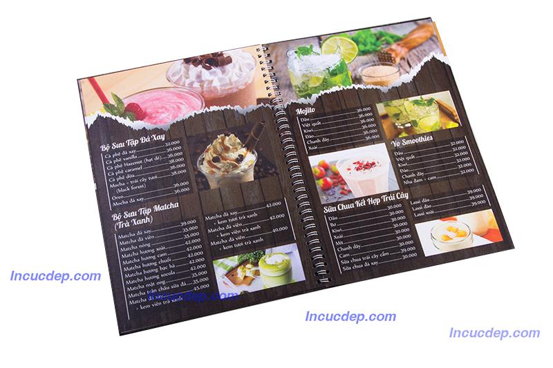 Mẫu thiết kế menu cao cấp - bộ thiết kế in ấn dành cho quán trà sữa