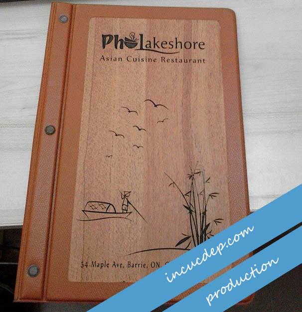 Menu gỗ - thiết kế menu quán phở