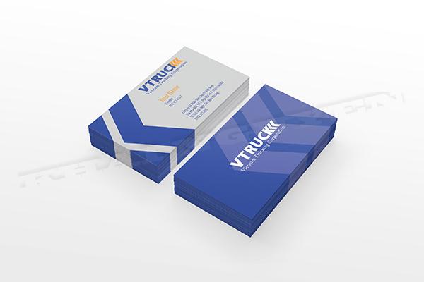 Mẫu thiết kế card visit - bộ nhận diện thương hiệu VTRUCK