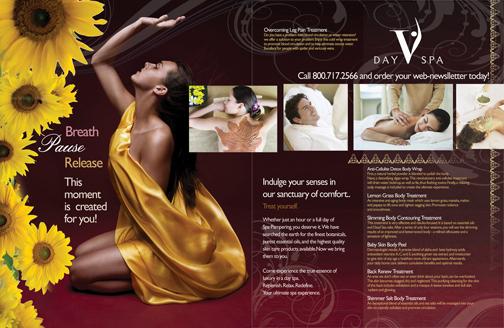 Mẫu thiết kế brochure spa số 1