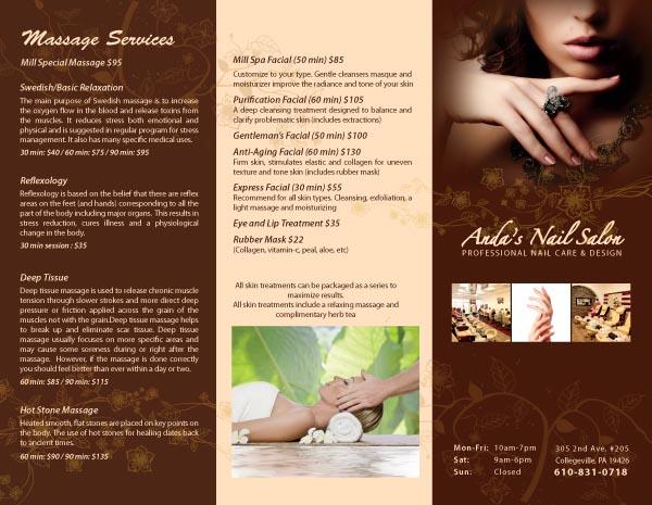 Mẫu thiết kế brochure nails - spa