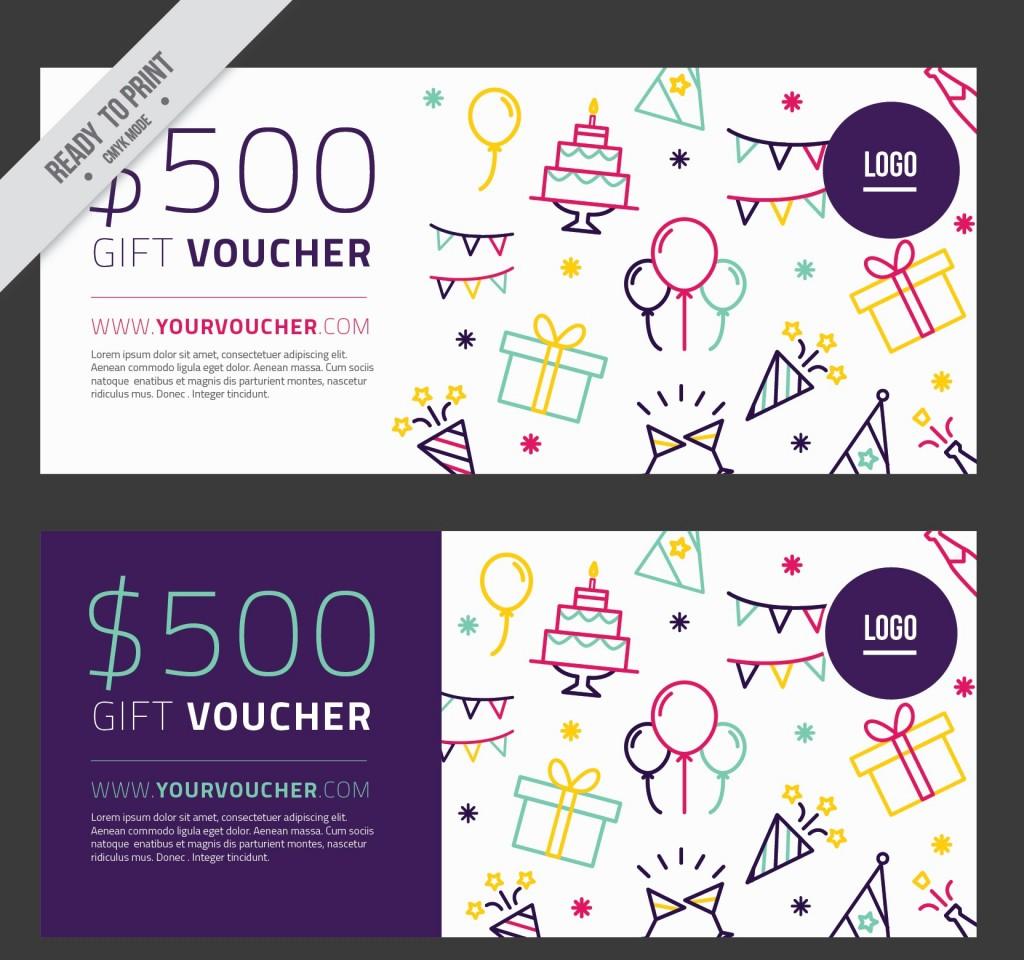 Mẫu thiết kế gift voucher của hàng quà tặng