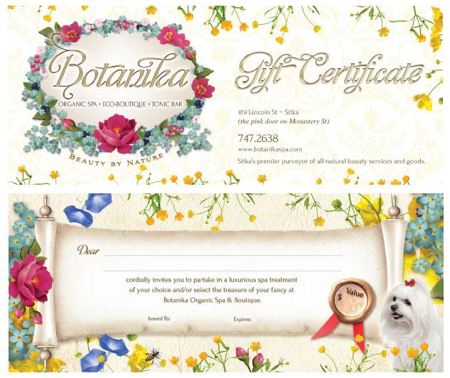 Mẫu thiết kế voucher cực xinh với pattern flower