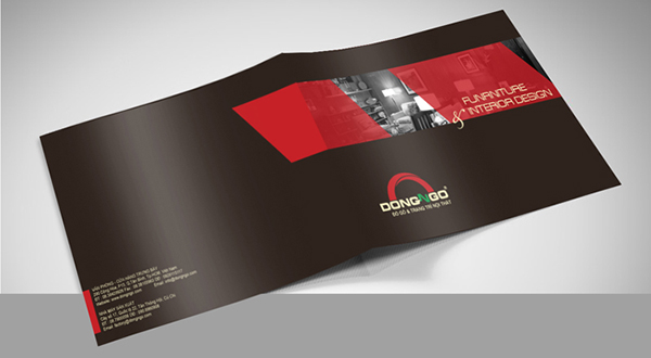 Bìa thiết kế catalogue A4 nằm ngang