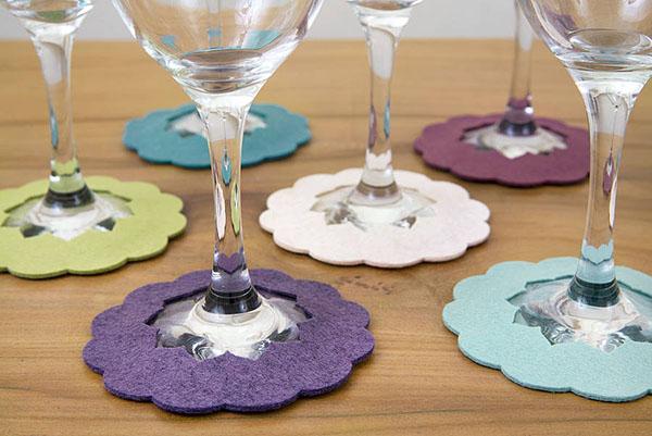 Làm đế lót ly bằng vải nỉ – cơ sở làm lót ly uy tín