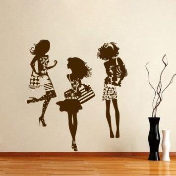 Mẫu dán tường shop thời trang đẹp