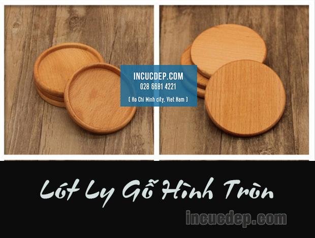 Đế ly gỗ hình tròn 9x9cm