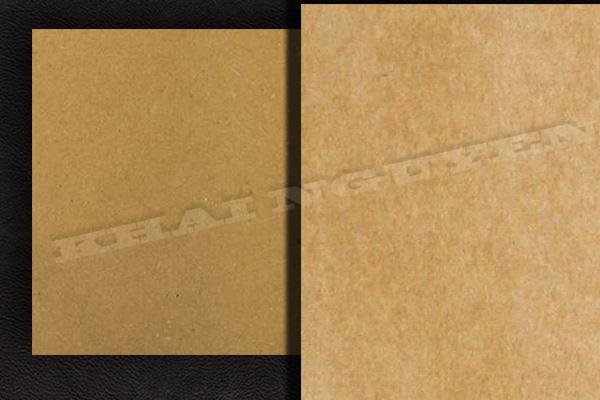 Mẫu giấy kraft - hai mặt giấy kraft