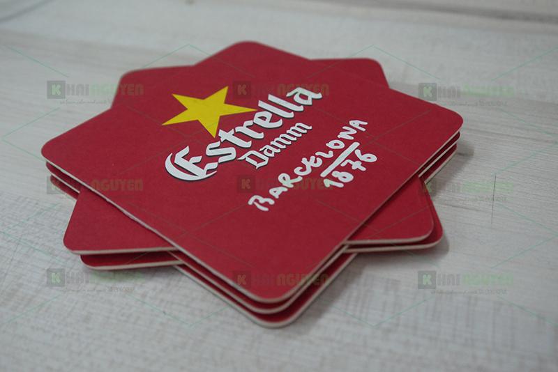 Mẫu làm lót ly giấy cho nhà hàng Astrella Damm