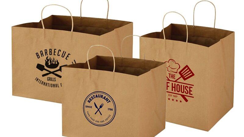 Thiết kế & in túi giấy kraft tái chế rẻ đẹp