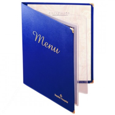 In menu da ép kim cho nhà hàng cao cấp