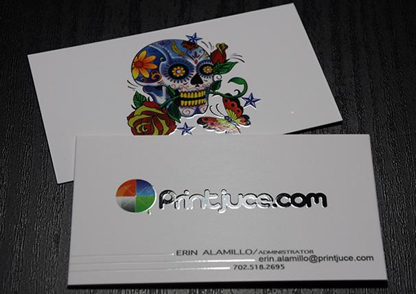 Card visit phủ uv logo và kéo nổi chữ