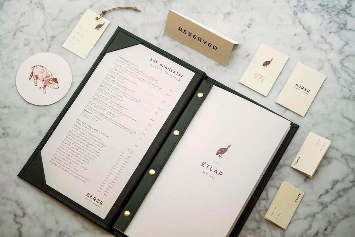In menu da simili – làm bìa menu da ép kim – dập chìm