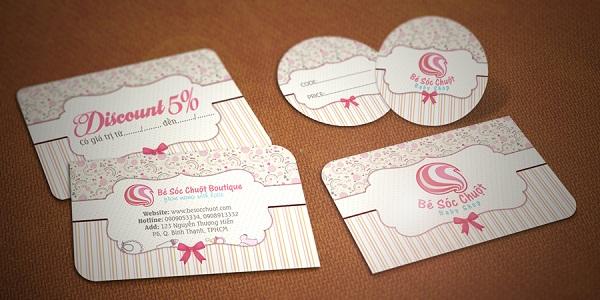 Gift card - mẫu thiết kế voucher dạng card ấn tượng