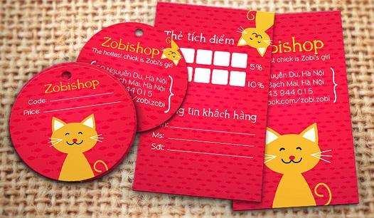 Mẫu thiết kế voucher dạng name card - độc đáo và sinh động