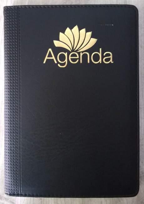 Bìa sổ da ép kim - bìa da Agenda