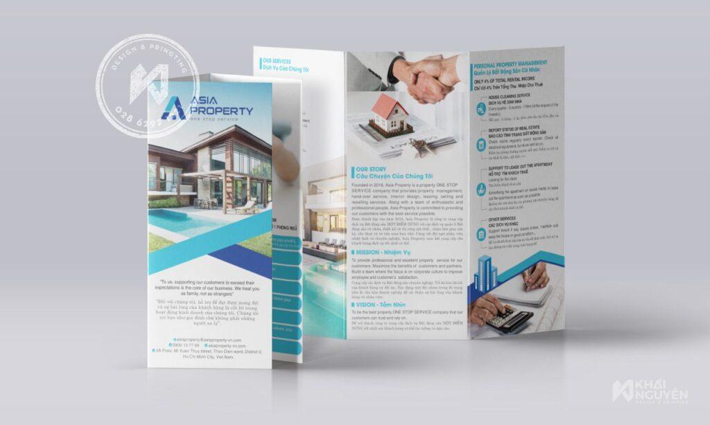 Mẫu brochure bất động sản chuyên nghiệp