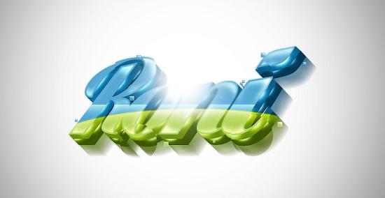 mẫu thiết kế logo 3D
