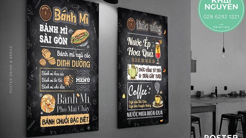 Thiết kế in menu dán tường