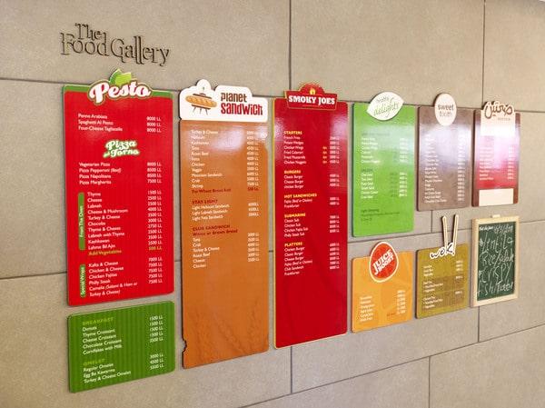 Thiết kế menu bảng – menu treo tường – menu dán tường