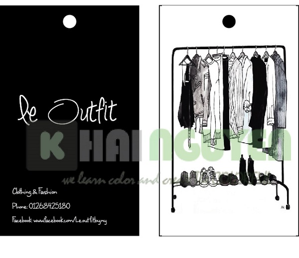 Mẫu thiết kế thẻ treo shop - le Outfit