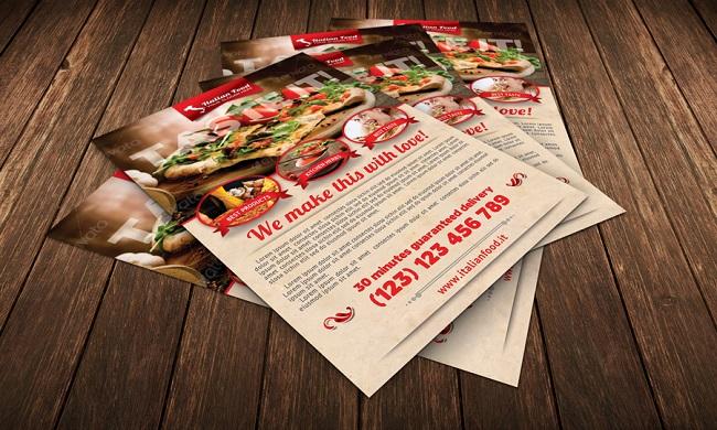 Thiết kế menu tờ rơi với nội dung thích hợp - in menu flyer chất lượng cao