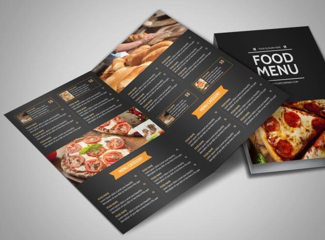 In menu với chất lượng ấn tượng