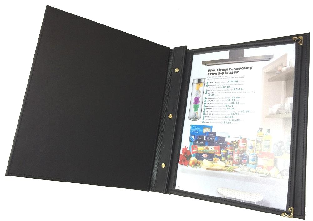 Menu da bìa kiếng đống cuốn - Mẫu menu nước ngoài được yêu thích