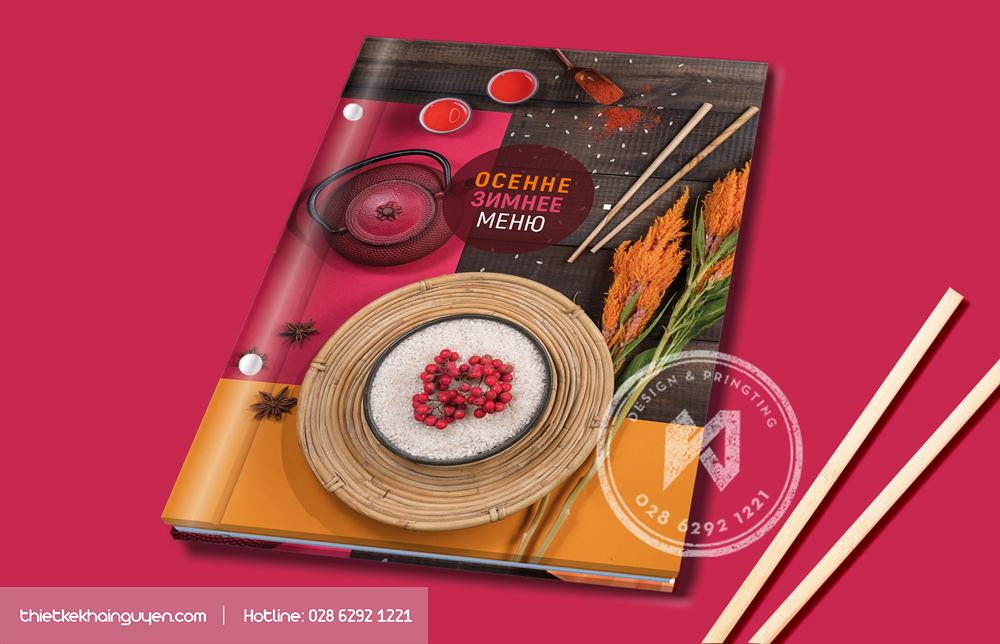 In thực đơn menu bìa bồi carton bền đẹp và tiện dụng