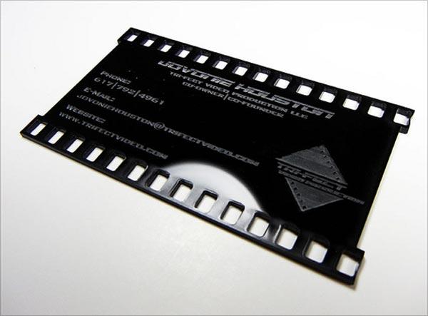 Mẫu làm card visit bắn laser kết hợp với phủ UV