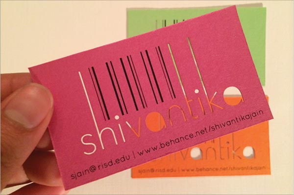 Mẫu in card visit cắt laser đầy màu sắc