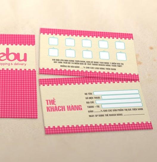 In thẻ tích điểm với thiết kế dễ thương