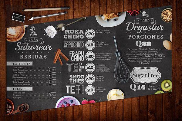 Thiết kế menu nhà hàng phong cách vintage