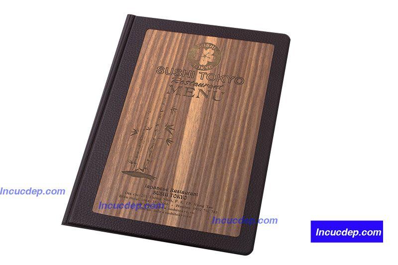 In menu gỗ khắc laser đặc sắc