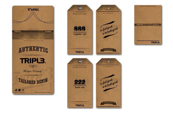 Mẫu in thẻ treo giấy kraft đơn giản