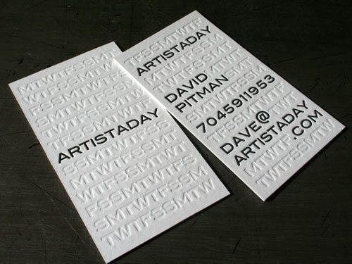 Namecard được thiết kế để dập 2 mặt