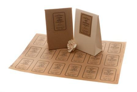 In decal kraft dùng để dán túi giấy